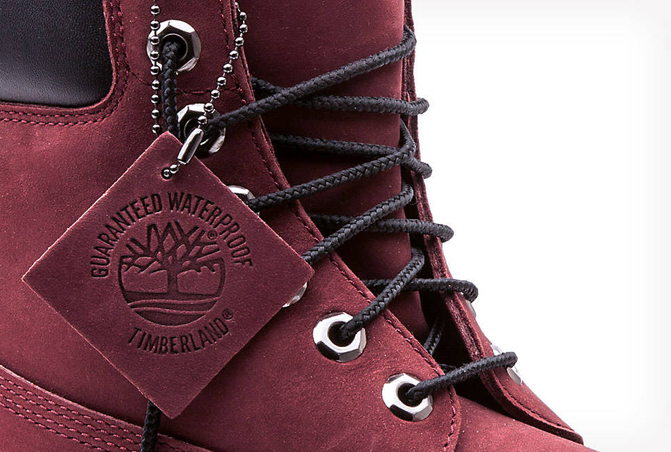Timberland Burgundy 6 Inch Boot Limited Release