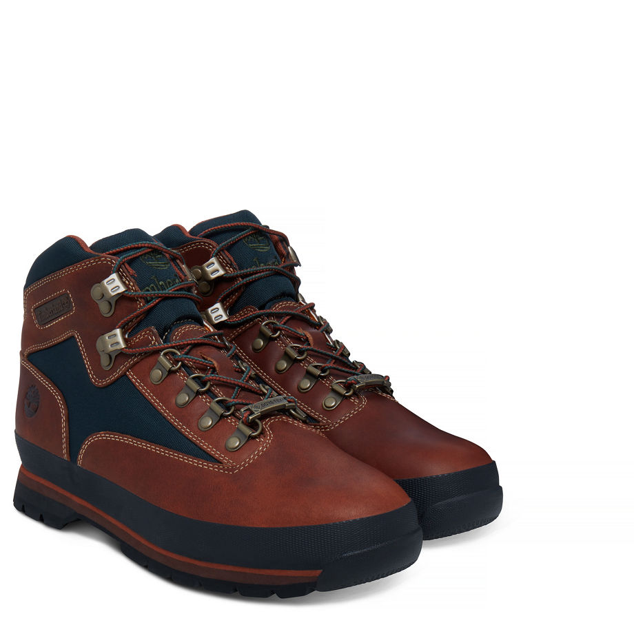 b0aca16f3502 Timberland Men s Euro Hiker Gore-tex® Boot Rust green Sundance Tbl Forty  W dark Green Gables Canvas