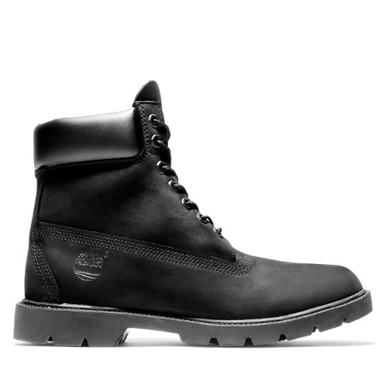 Mens 6-Inch Basic Waterproof Boots w/Padded Collar
