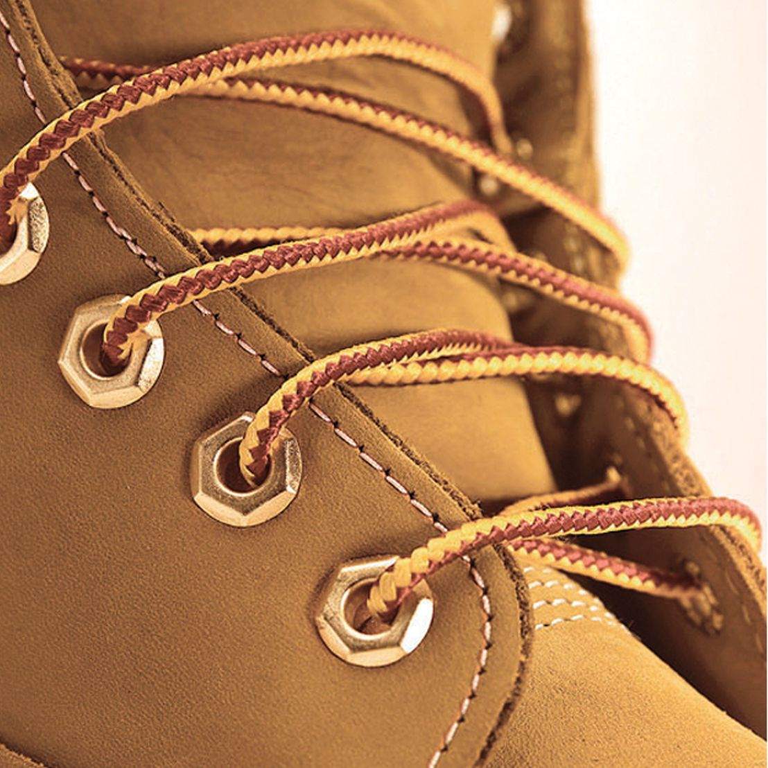 Yellow Boot Laces Close-up