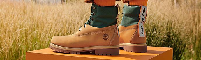 Man wearing Timberland Boots