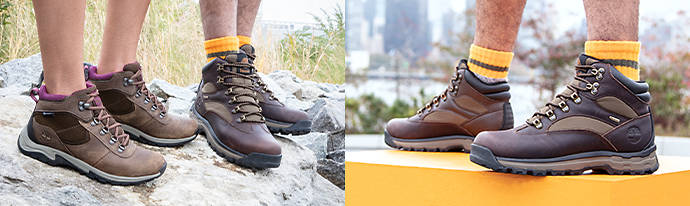 Man wearing Timberland Hiking Boots