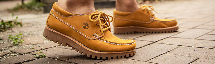 Man wearing Timberland Shoes