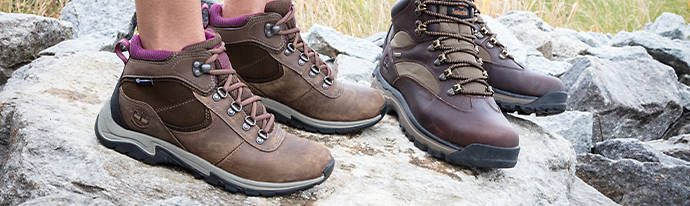 Woman wearing Timberland Hiking Boots
