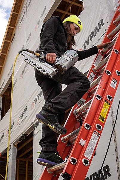 Photo of Worker wearing Timberland PRO Radius Shoes