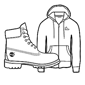 Illustration of Timberland Icon