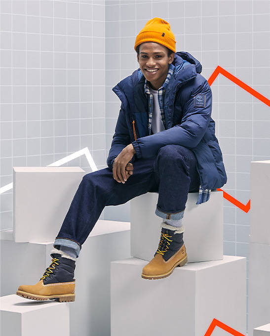 Man wearing Timberland Fall/Winter gear