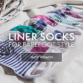 Liner Socks For Barefoot Style. Shop Women.