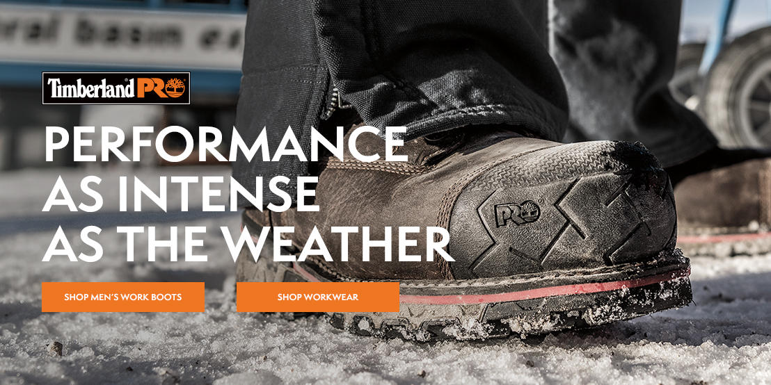 Performance As Intense As The Weather. Shop Men's Work Boots. Shop Men's Workwear.