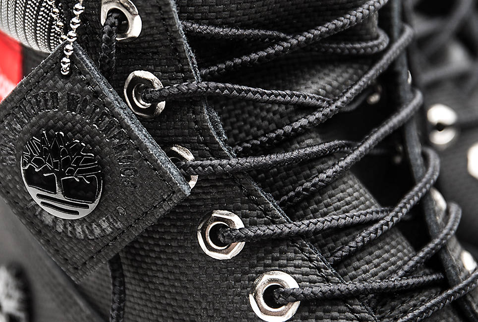 Classic boot laces made from 100% recycled nylon are re-engineered to stay tied and Rustproof hardware for long-lasting wear