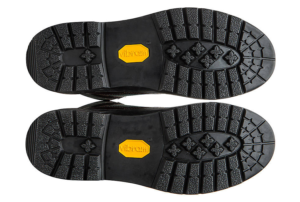 Vibram® rubber outsoles for traction and durability