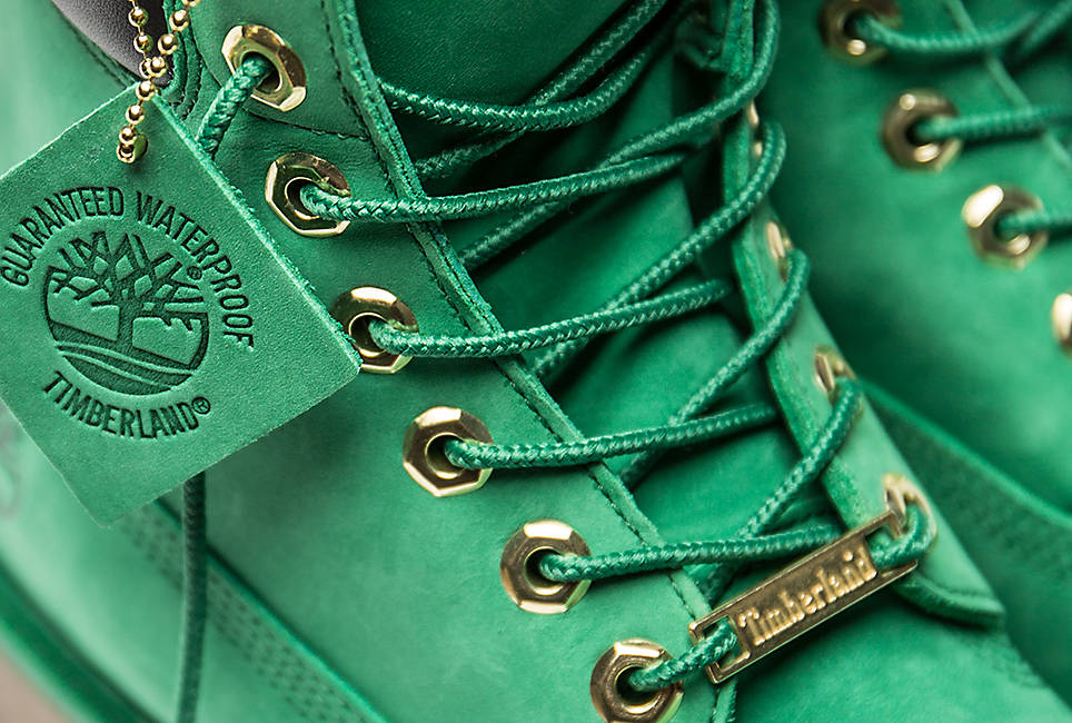 100% recycled nylon laces, re-engineered to stay tied and rustproof hardware for long-lasting wear