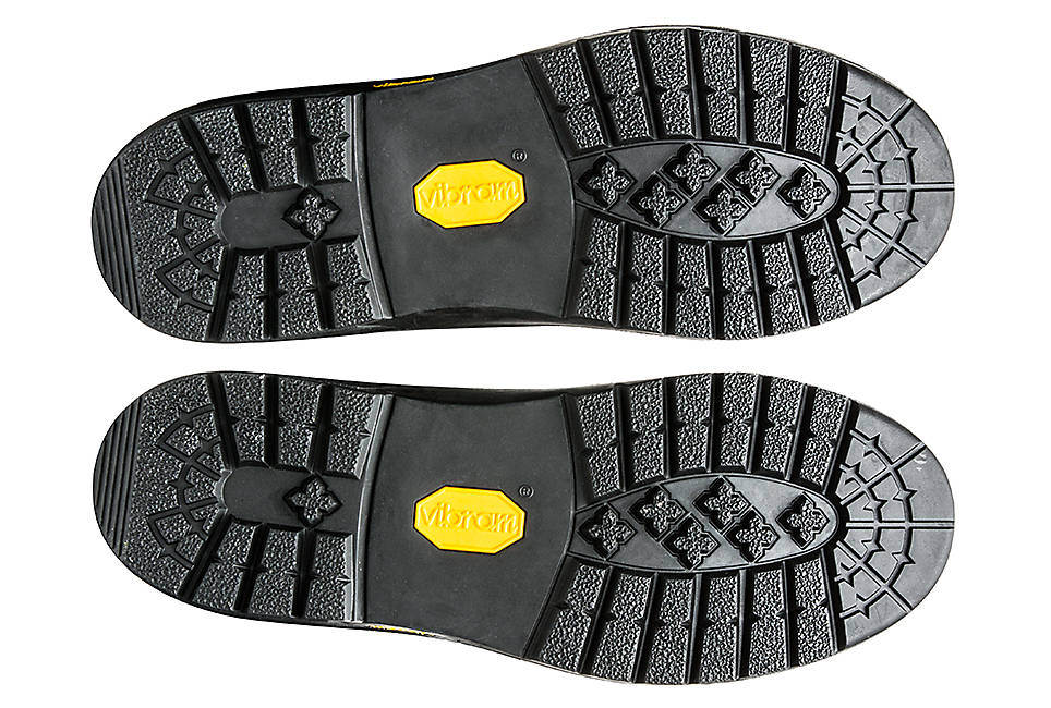 Vibram® rubber soles for traction