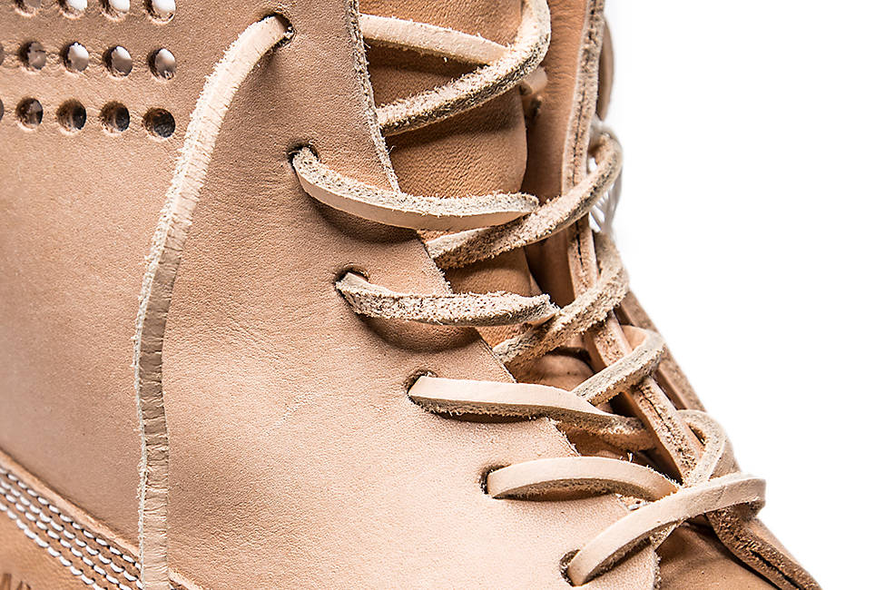 Durable long-lasting leather laces