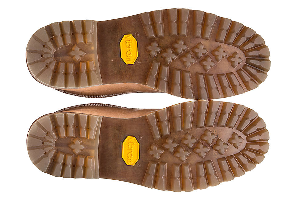 Vibram rubber soles for traction