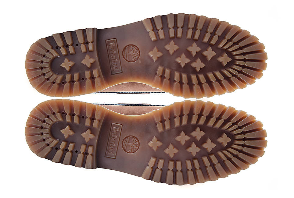Vibram® rubber lug outsole for traction