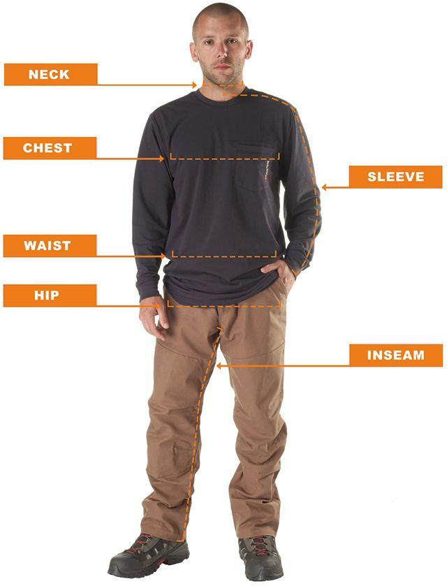Timberland Pro Workwear Size Chart Timberland