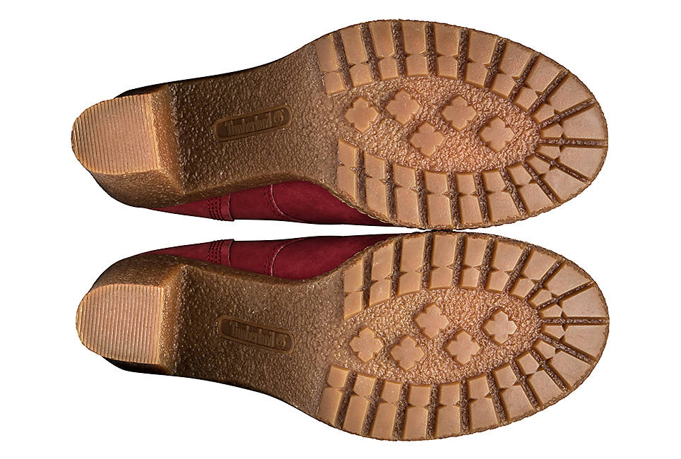 Textured soles made with 15 percent recycled rubber