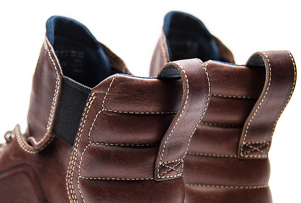 Genuine full grain brown leather treated with Defender Repellent Systems