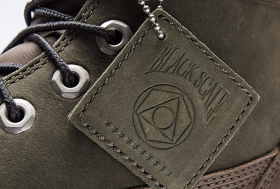 Black Scale Logos on Leather