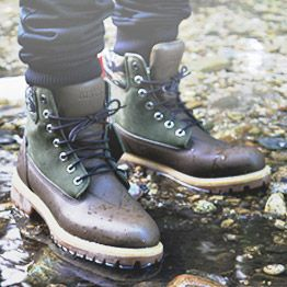 Olive Black Scale Boots