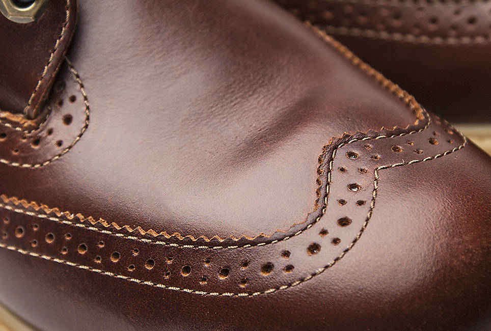 Exclusive Chestnut Quartz leather
