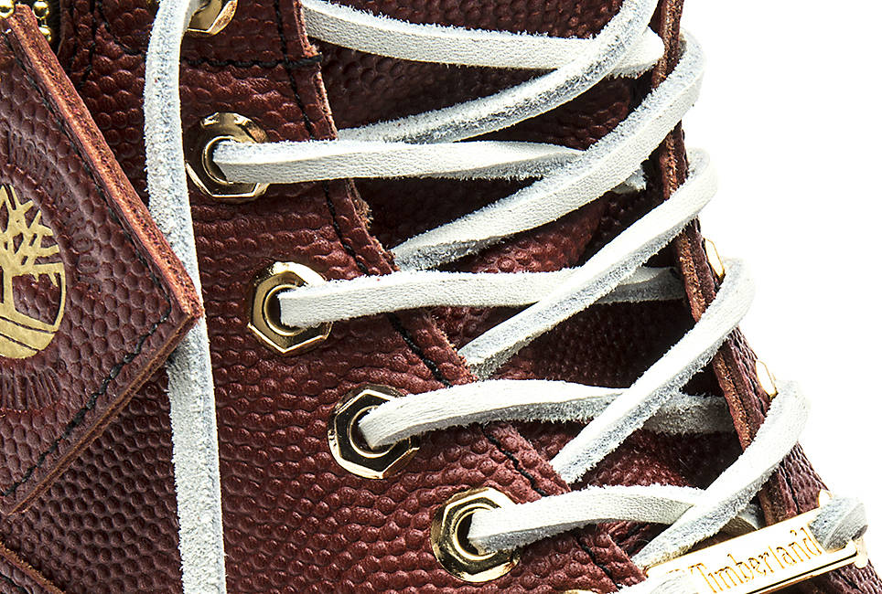 Rawhide laces that resemble the laces on a football