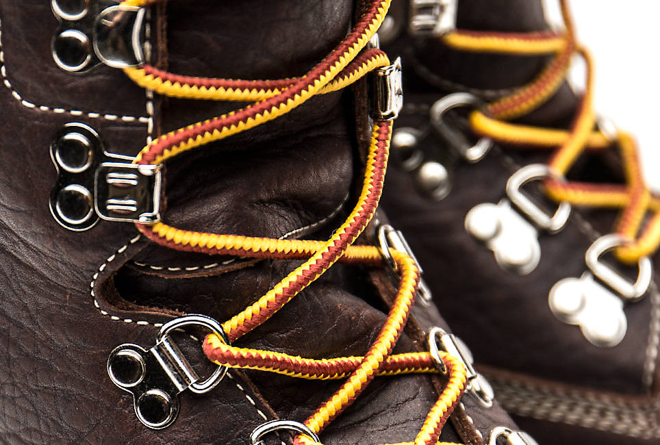 100% recycled nylon laces engineered to stay tied