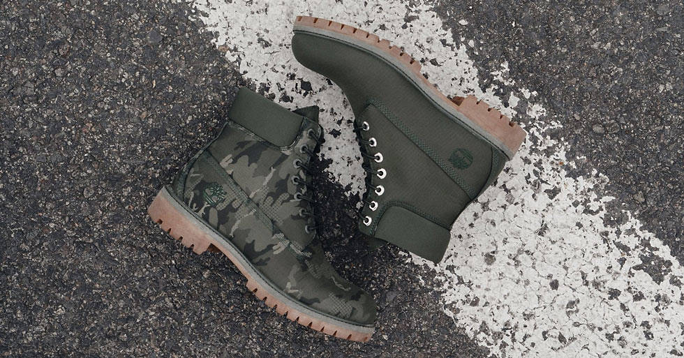 timberland homme camouflage