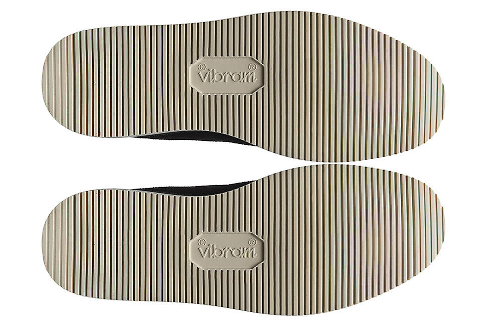 Vibram® rubber sole for traction and durability