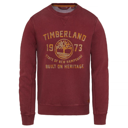 Men's Fort Hill Crew Neck Sweater Oxblood | Timberland