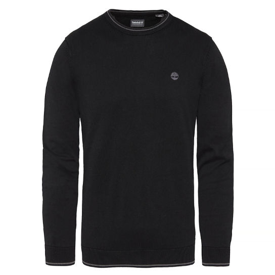 Herren Long Point Cotton Jumper Schwarz | Timberland