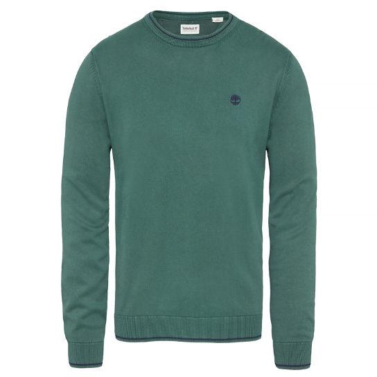 Long Point Cotton Jumper Groen Heren | Timberland