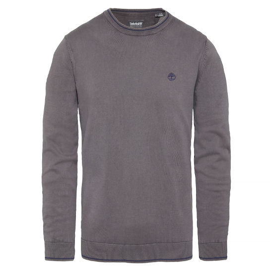 Herren Long Point Cotton Jumper Grau | Timberland