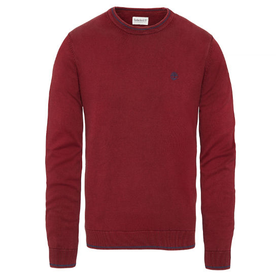 Long Point Cotton Jumper Homme rouge carmin | Timberland
