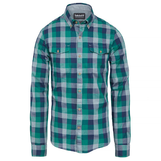 Men's Stonybrook Herringbone Shirt Green | Timberland