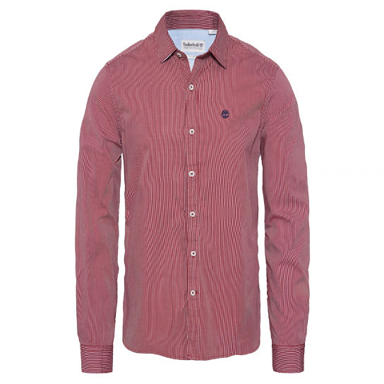 Milford Stripe Oxford Shirt rouge | Timberland