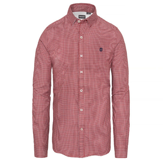 Men's Milford Checked Oxford Shirt Red | Timberland