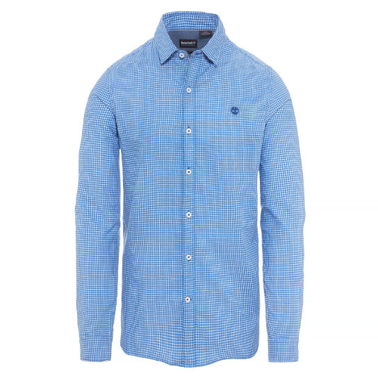 Milford Checked Oxford Shirt Heren Blauw | Timberland