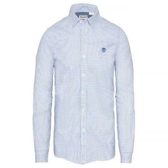 Men's Milford Checked Oxford ShirtLight Blue | Timberland