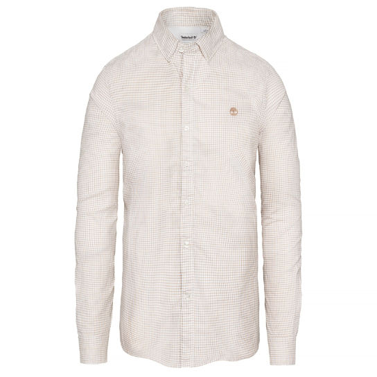 Men's Milford Checked Oxford Shirt Beige | Timberland