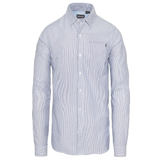 Men's Wellfleet Striped Oxford Shirt Navy | Timberland