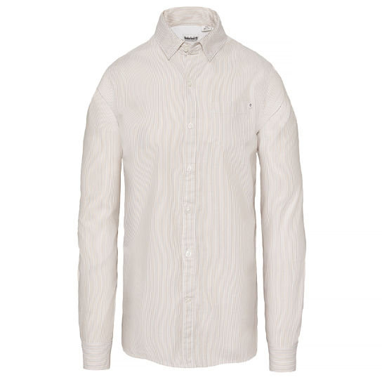 Wellfleet Striped Oxford Shirt Homme Beige | Timberland