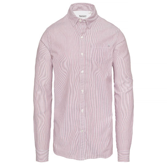 Wellfleet Striped Oxford Shirt Homme Rouge | Timberland