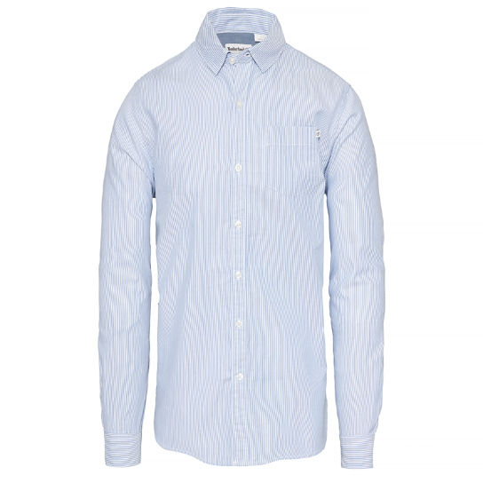 Wellfleet Striped Oxford Shirt Homme Bleu | Timberland