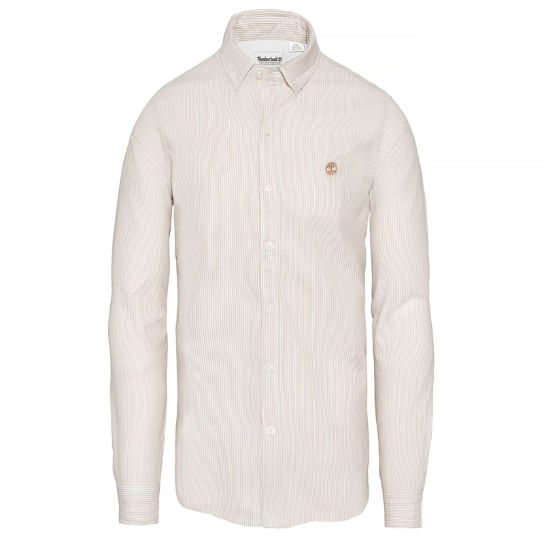 Milford Striped Oxford Shirt Uomo Beige | Timberland