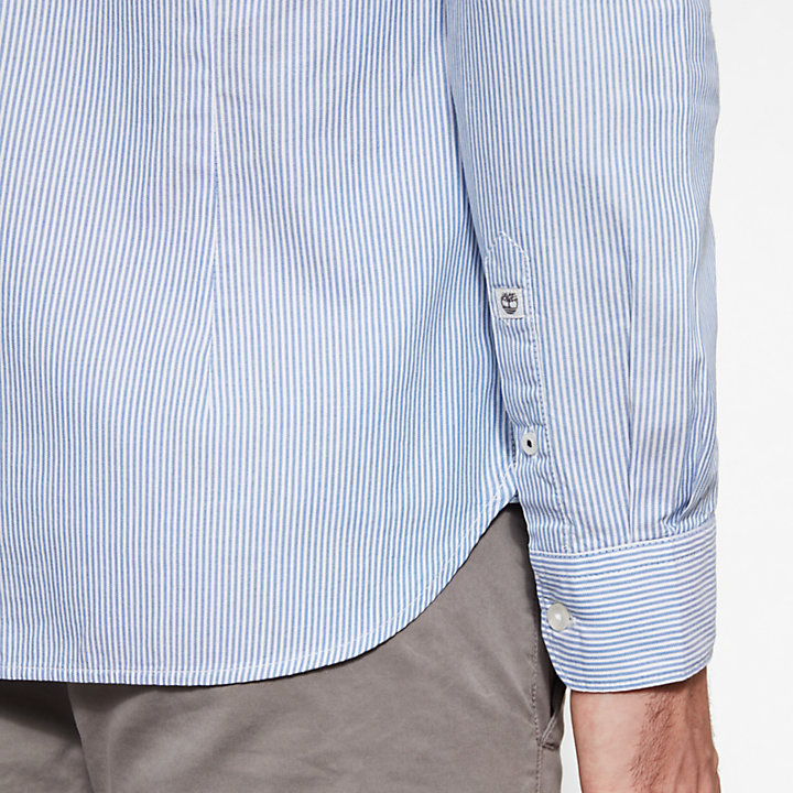 Milford Striped Oxford Shirt Hombre Azul-