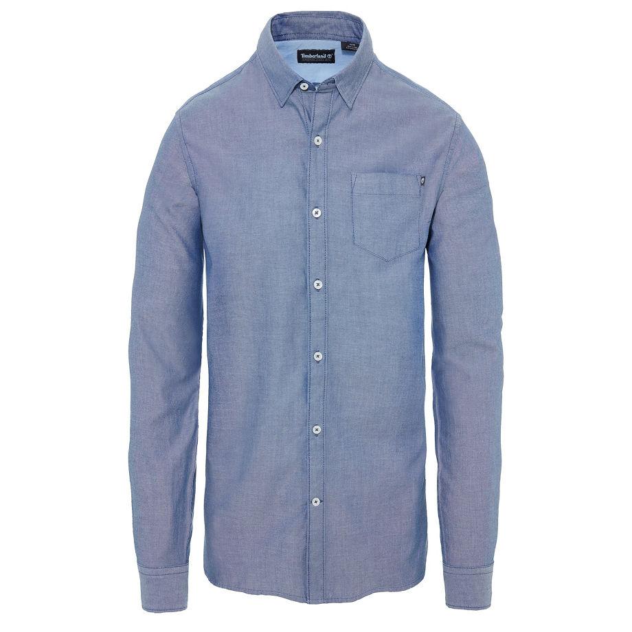Timberland Men's Wellfleet Oxford Shirt Navy Dark Denim, Size XXL