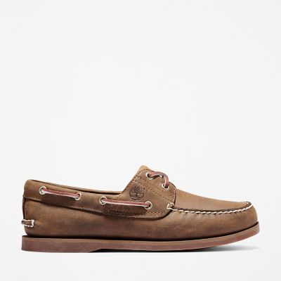 Classic+2-Eye+Boat+Shoe+for+Men+in+Dark+Brown