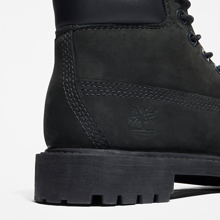 6 Inch Premium Boot for Youth in Black-